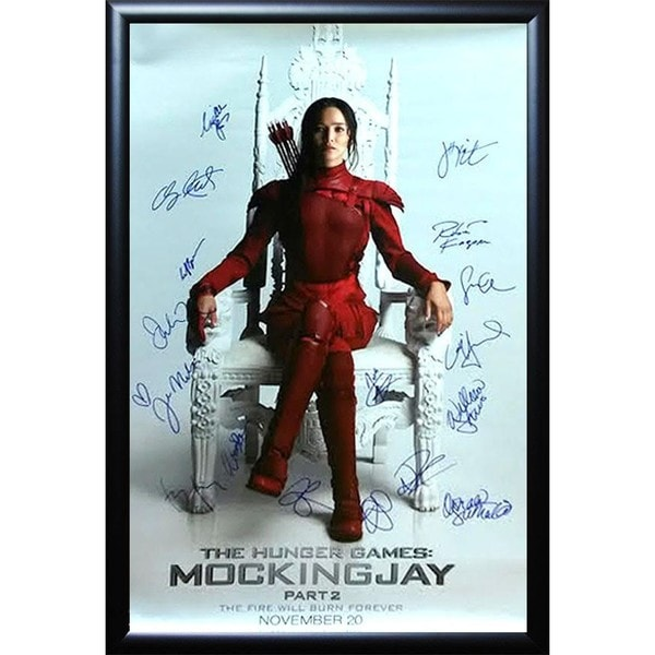 The Hunger Games Mockingjay Part 2 - Signed Movie Poster 30643589