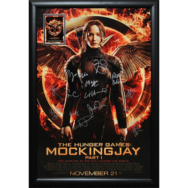 The Hunger Games Mockingjay Part 1 - Signed Movie Poster 30643590