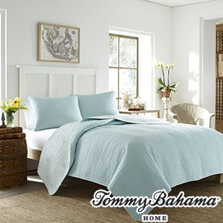 Tommy Bahama Melia Harbor Blue Quilt Set