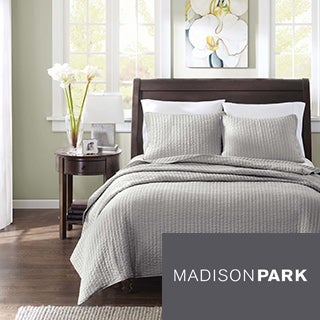Madison Park Jaxson Grey 3-piece Coverlet Set