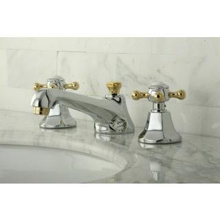 Metropolitan Chrome and Polished Brass Bath Faucet