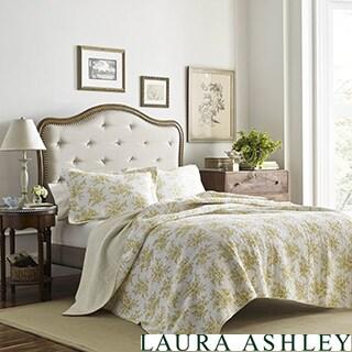 Laura Ashley Cielo Lemon Cotton Quilt Set