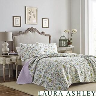 Laura Ashley Morning Gloria Cotton Quilt Set