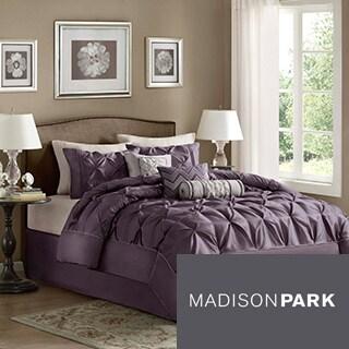 Madison Park Jacqueline Plum 7 Piece Comforter Set