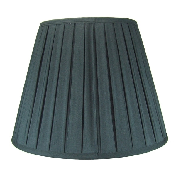 11x18x13.5 Empire Box Pleat Lamp Shade Black 30828464