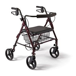 Medline Extra-Wide Bariatric Heavy-Duty Rollator Walker