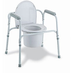 Medline Deluxe 3-in-1 Steel Frame Multifunction Commode