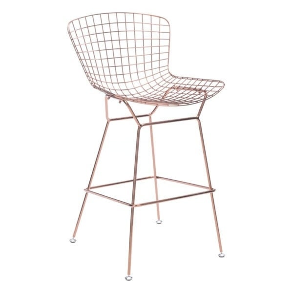 Rose Gold-tone Steel Wire Bar Chair (Set of 2) 31035865