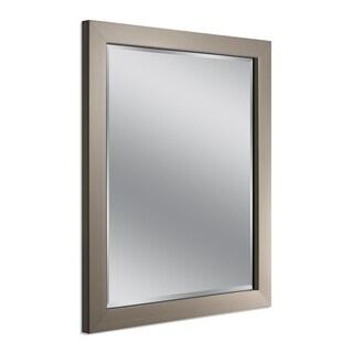 Headwest Modern Brush Nickel Wall Mirror - Brushed Nickel - 26 X 32