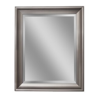 Headwest Transitional Brush Nickel Wall Mirror - Brushed Nickel - 28 X 34