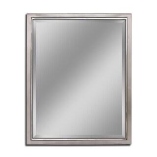 Headwest Classic Brush Nickel Chrome Wall Mirror - Brushed Nickel - 24 X 30