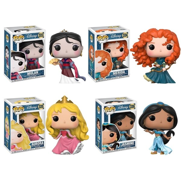 Funko POP! Disney Princess Collectors Set 2; Mulan, Merida, Aurora, Jasmine 31056530