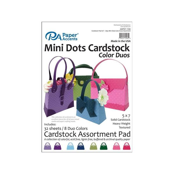 Cardstock Pad 5x7 32pc Mini Dots Color Duos Ast 31059755
