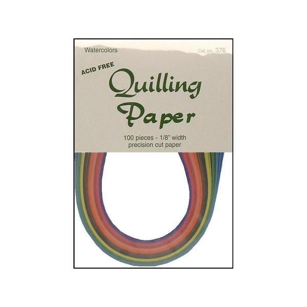 """Lake City Quilling Paper Pkg 100pc 1/8"""" Watercolor 31059838"""