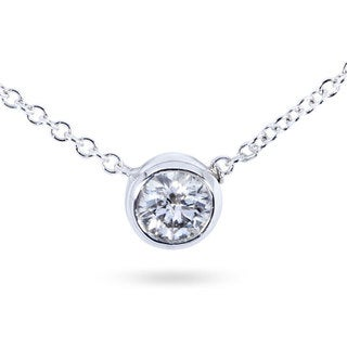 Annello 14k Gold 1/4ct Diamond Solitaire Necklace (H-I,I1-I2)