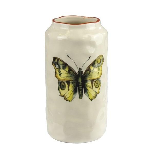 Expressive  Ceramic Butterfly Vase 31070666