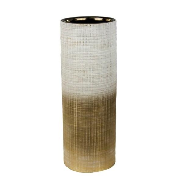 Stunning Ceramic Vase,  White & Gold 31070674