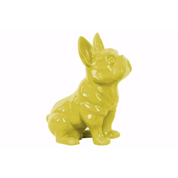 Sitting French Bulldog Figurine with Pricked Ears - Yellow 31071730