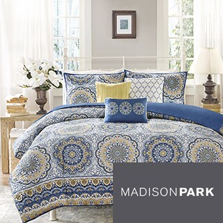 Madison Park Moraga 2-in-1 Duvet Cover/Coverlet Set