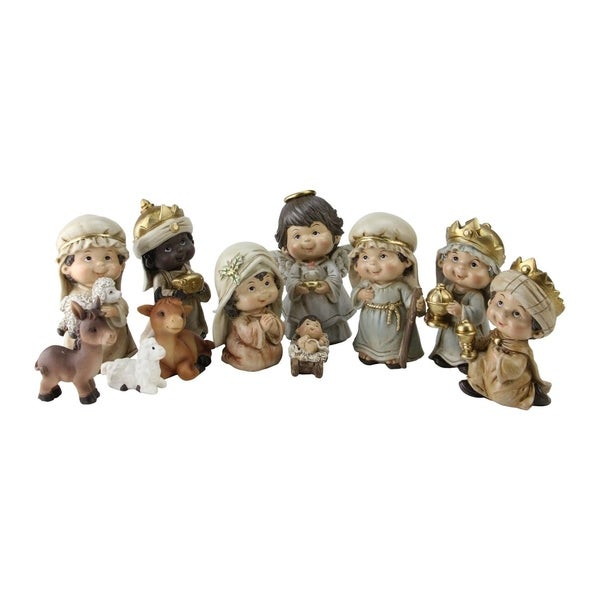 Christmas Nativity Figure Set with Gold Accents 31073703