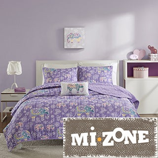 Mi Zone Abby Purple Coverlet Set