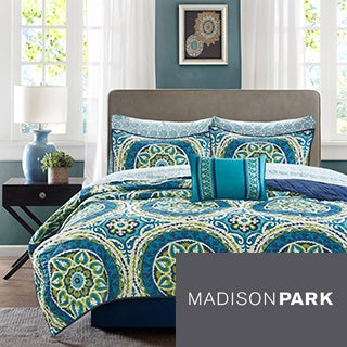 Madison Park Essentials Odisha Blue 8-piece Coverlet Set