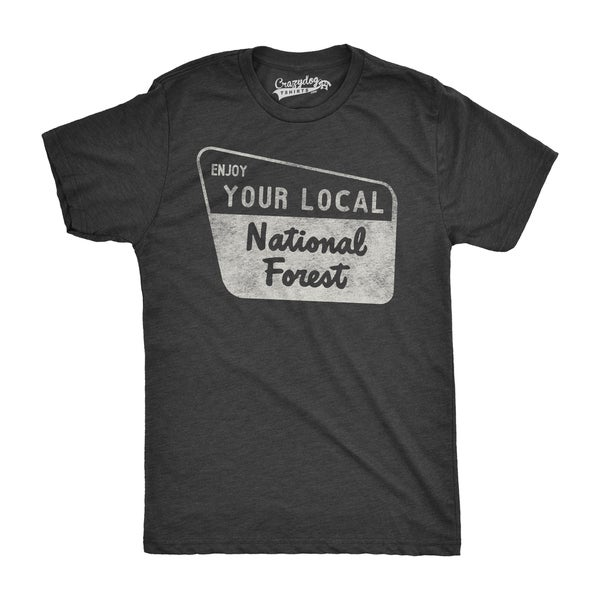 Mens Enjoy Your National Forest Funny Outdoor Vintage Camping Mountains T shirt 31110895