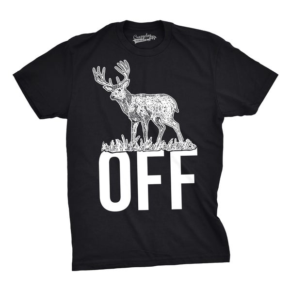 Mens Buck Off Funny T shirts Hunting Deer Tee Hilarious Offensive Novelty T shirt 31111619