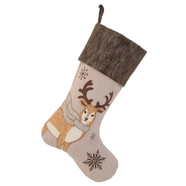 Cozy Reindeer Christmas Stocking