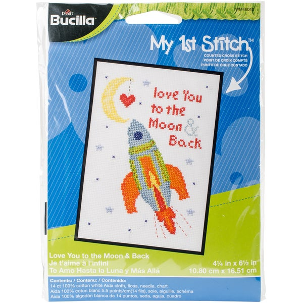 My 1st Stitch Love You To The Moon Mini Counted Cross Stitch 31115607