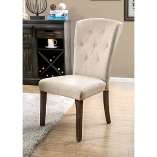 Copper Grove Glavinitsa Tufted Linen-like Dining Chairs (Set of 2)