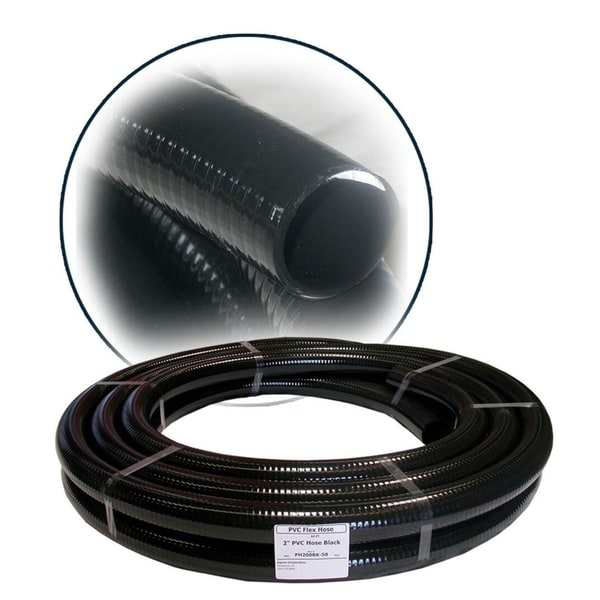 1-1/4 Inch PVC Hose Black x 50 Feet 31136771