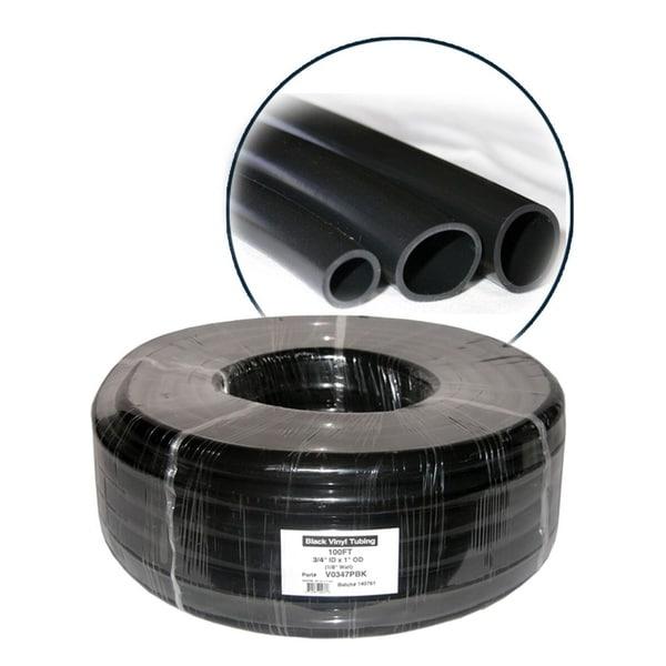 5/8 Inch Inner Diameter.x 7/8 In O.D. x 1/8 In Wall PVC Black Tubing x 100' 31136785