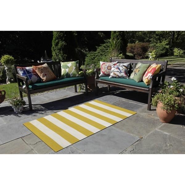 Wide Stripe Outdoor Rug (8'3 x 11'6) - 8'3 x 11'6 31138120