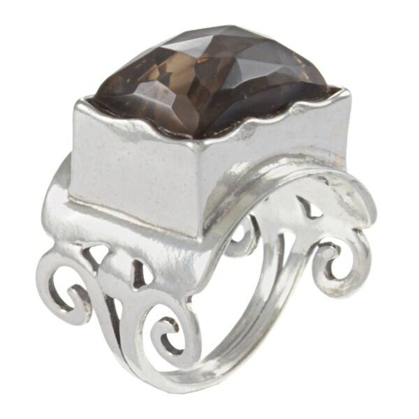 Sterling Silver Smokey Quartz Ring (Israel)
