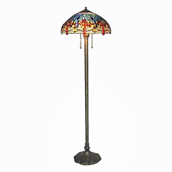 Overstock Tiffany Floor Lamp Tiffany Style Blue Dragonfly Floor Lamp 10189208