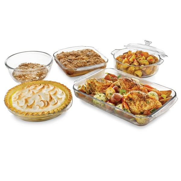 Libbey Baker's Basics 5-piece Glass Bake Set with Cover 31191792