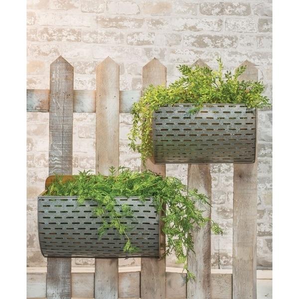 Olive Bucket Wall Baskets