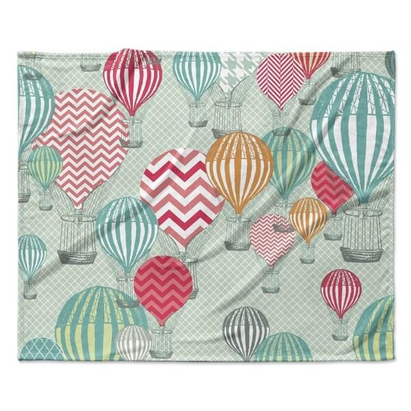 "KESS InHouse Heidi Jennings ""Hot Air Baloons"" Fleece Blanket 31193314"