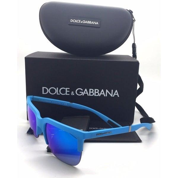 Dolce & Gabbana Azure Rubber Green Blue Mirror Lens 31197263