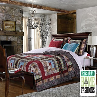 Colorado Lodge Authentic Patchwork Quilt Bonus Set