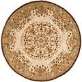 Safavieh Handmade Heritage Beige Wool Rug (3'6 Round)