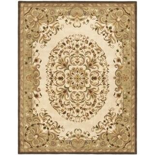 Safavieh Handmade Heritage Beige Wool Rug (5' x 8')