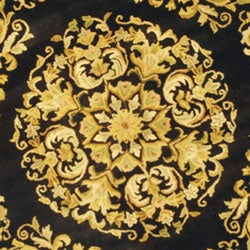 Safavieh Handmade Heritage Black Wool Rug (6' Round)