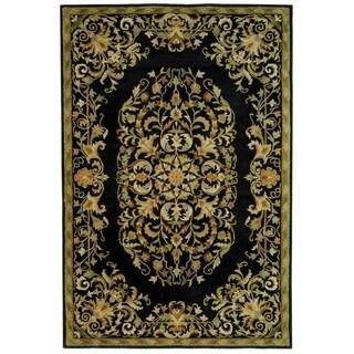 Safavieh Handmade Heritage Black Wool Rug (6' x 9')