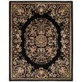 Handmade Heritage Black Wool Rug (7'6 x 9'6)