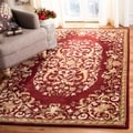 Safavieh Handmade Heritage Red Wool Rug (4' x 6')