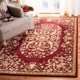 Safavieh Handmade Heritage Red Wool Rug (5' x 8')