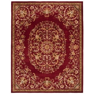 Safavieh Handmade Heritage Red Wool Rug (7'6 x 9'6)