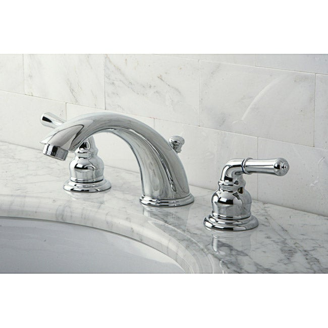 Stylish Chrome Widespread Bathroom Faucet - 10192268 - Overstock.com ...
